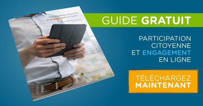 Téléchargez notre guide gratuit sur la participation citoyenne et l'engagement en ligne