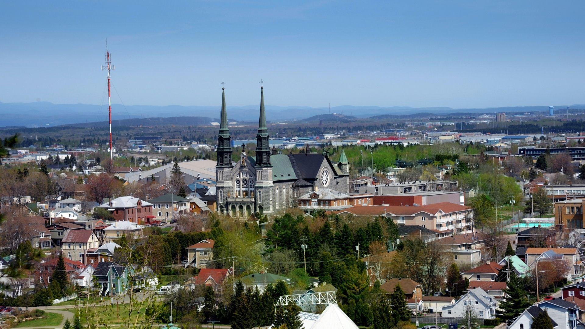 Le centre-ville de Jonquière